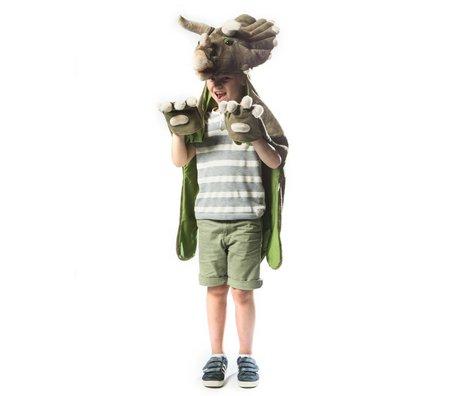 Wild and Soft Disguise Dino dark green textile 114x123x33cm