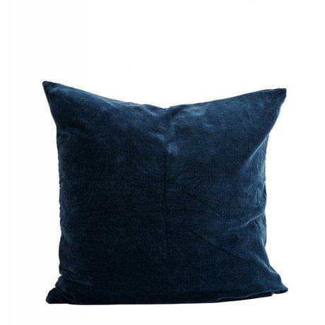 Madam Stoltz Kissenbezug blau Baumwolle 60x60cm