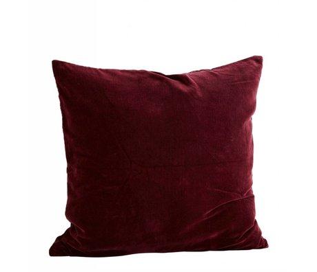 Madam Stoltz Cushion cover bordeaux red cotton 60x60cm