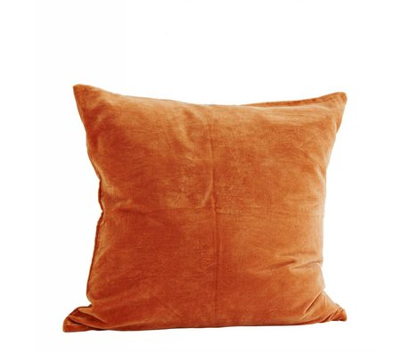 Madam Stoltz Kussenhoes 60x60cm coton brun caramel