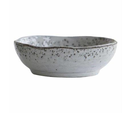Housedoctor Dish Rustic grau blau Keramik ø14x4,5cm