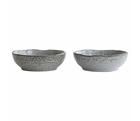 Housedoctor Dish Rustic gray blue ceramic ø11,5x3,8cm