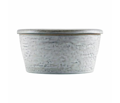 Housedoctor Opbergbakje Rustic grijs blauw keramiek ø14x7cm