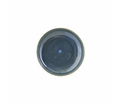 Housedoctor Bord Nord blau Keramik ø21,5x4,5cm