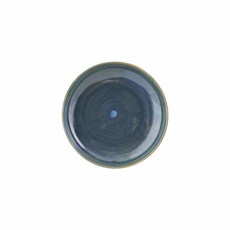 Housedoctor Bord Nord blauw aardewerk ø21,5x4,5cm
