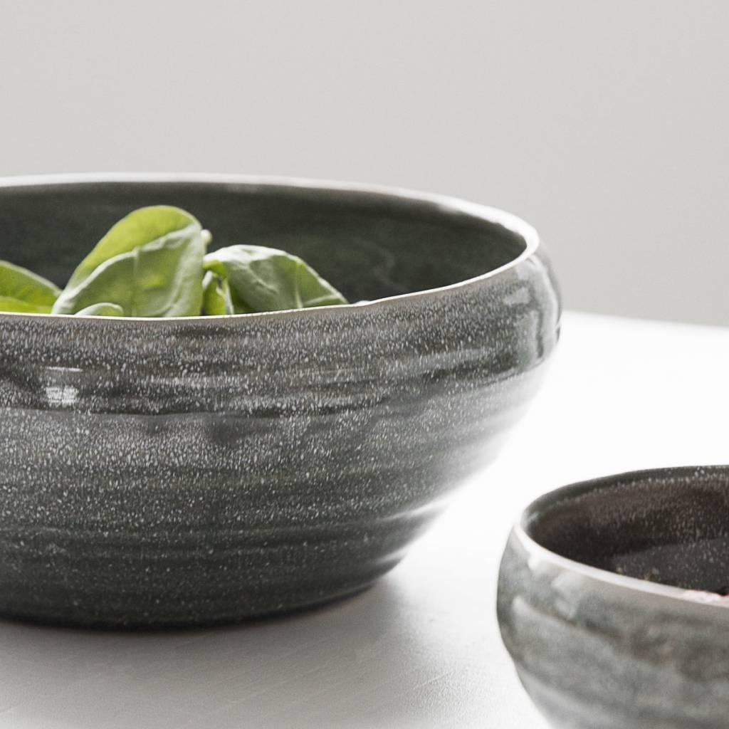housedoctor schaal nord groen aardewerk 22x10cm. Black Bedroom Furniture Sets. Home Design Ideas