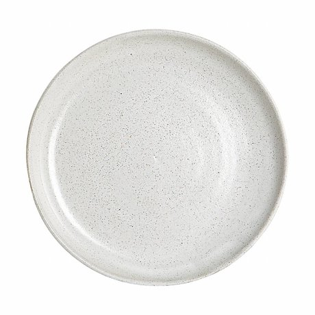 Housedoctor Dinner plate By Hand white clay ø22,5x2cm