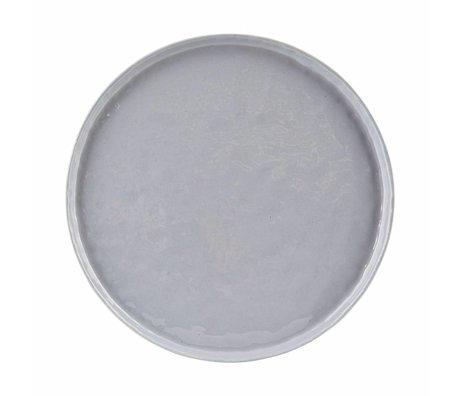 Housedoctor Diner bord Solid blauw/grijs aardewerk ø27,5x1,5cm