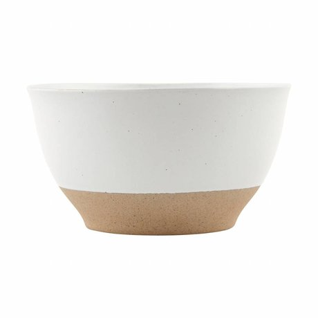 Housedoctor plat poterie solide blanc ø22x2cm