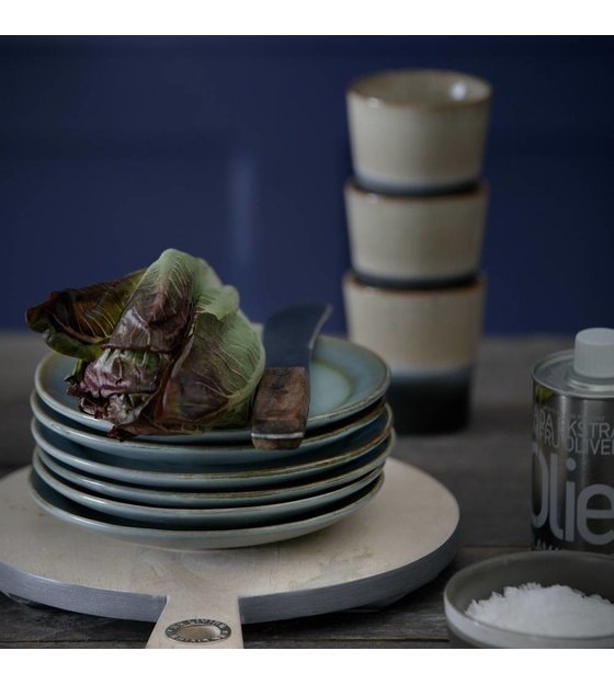 hk living dessert bord moss 39 70 39 s style blauw keramiek diameter 17 5cm. Black Bedroom Furniture Sets. Home Design Ideas