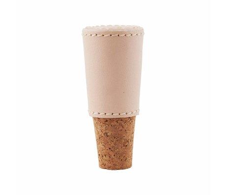 Housedoctor Wijnkurk Skin roze/bruin kurk leer ø1,7/3x8cm