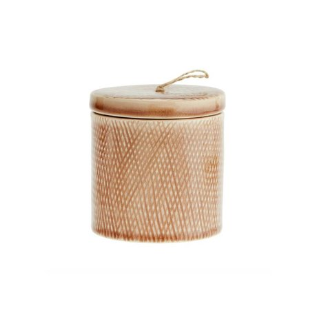 Madam Stoltz Stockpot dusty pink ceramic 10x11cm