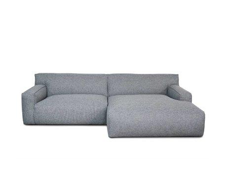 FÉST Ton-Bank grau Polvere90 1,5-Sitzer Sofa und die links oder rechts