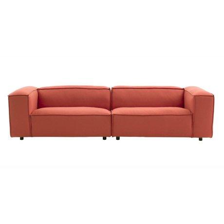 FEST Amsterdam Dunbar Bank 3-Sitzer Terrakotta Hero541 kvadrat 302x103cm