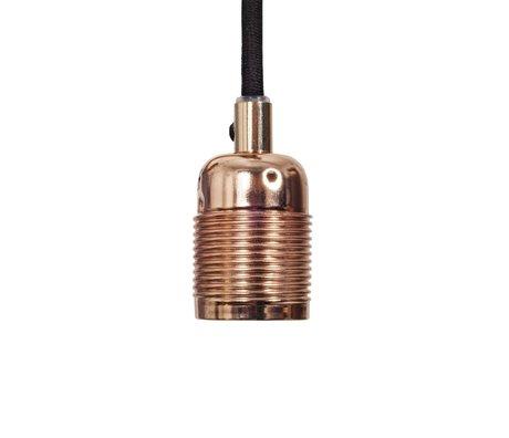 Frama Snoer elektra met fitting e27 koper zwart metaal Ø4x7,2cm