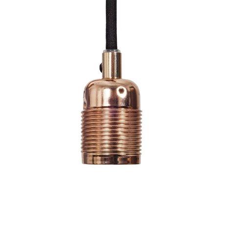 Frama Cordon électrique avec raccord cuivre e27 Ø4x7,2cm en métal noir