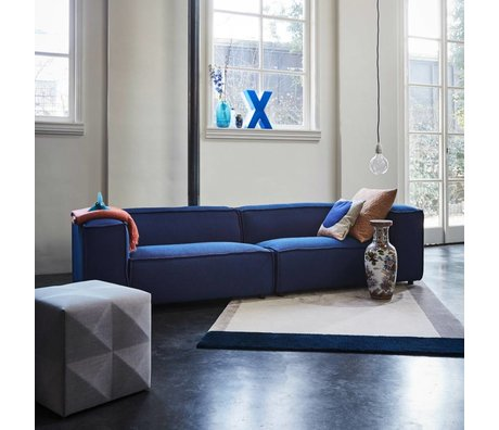 FEST Amsterdam Bank Dunbar 3-zits donkerblauw Sprinkles Parrot 302x103cm