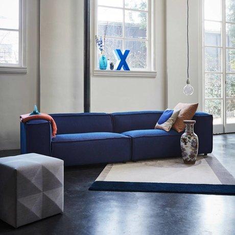 FÉST Bank Dunbar 3-seat dark blue Sprinkles Parrot 302x103cm