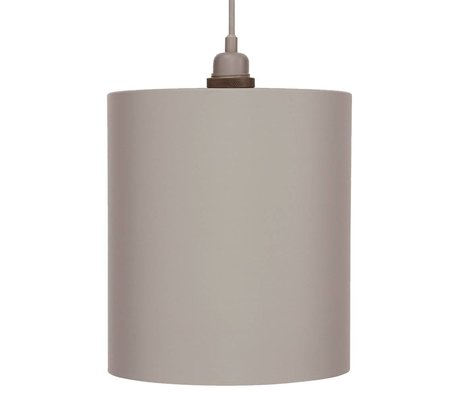 Frama Cylinder pendant light gray aluminum with E27 L Ø24cm