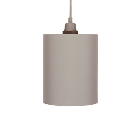 Frama Cylinder pendant light gray aluminum with E27 M ø17cm