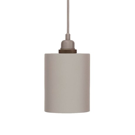 Frama Cylinder pendant light gray aluminum with E27 S Ø12cm