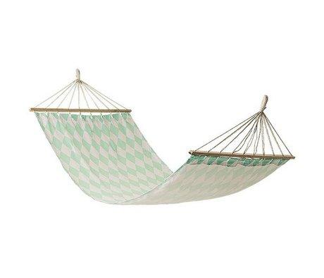 Bloomingville Hammock weiß mintgrün Textil 200x100cm