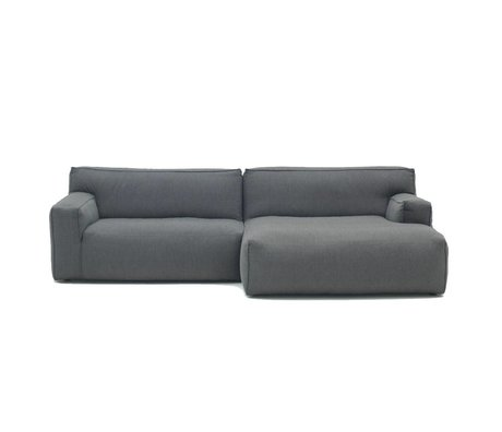 FEST Amsterdam Sofa Clay anthracite gray Sydney96 1,5-seater and divan left or right