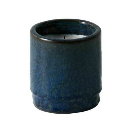 Ferm Living Scented Candle blue ceramic soy wax ø9x10cm