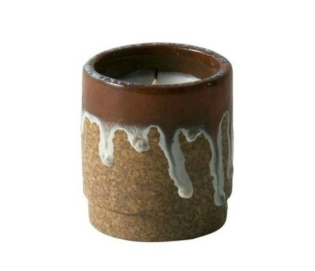 Ferm Living Scented Candle Running red ceramic soy wax ø9x10cm