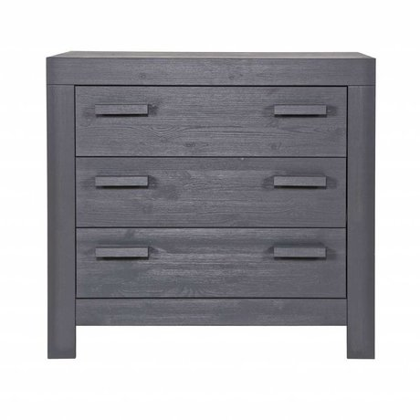 LEF collections Commode 'New life' brushed steel gray pine 95x52x91cm