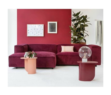 FEST Amsterdam Bank Dunbar burgundy red Seven39 1.5-seat and divan left or right