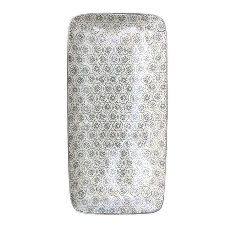 Bloomingville Board Isabella grau weiße Keramik 30x15cm