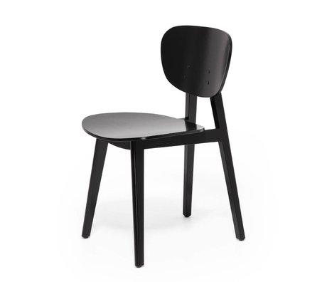 FEST Amsterdam chaise à manger Filou bois noir 43,5x58x79cm