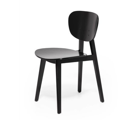 FEST Amsterdam Dining chair Filou black wood 43,5x58x79cm