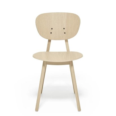 FEST Amsterdam Dining chair Filou oak brown wood 43,5x58x79cm