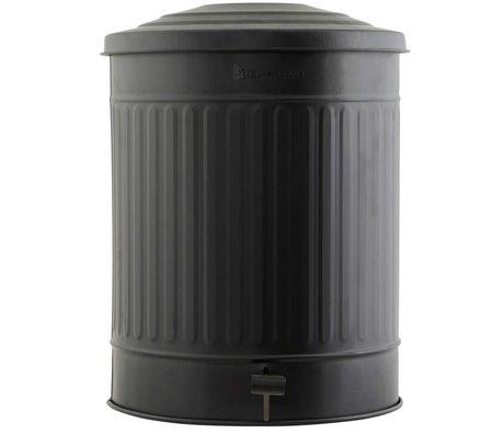 Housedoctor Schade Prullenbak staal zwart Ø37x48cm