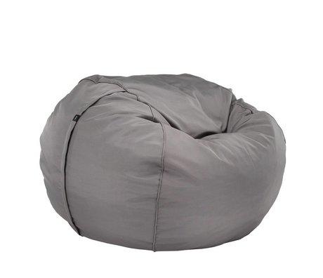 Vetsak Freier Outdoor Sitzsack Doppel grau Polyester Ø140x90cm 1000Liter