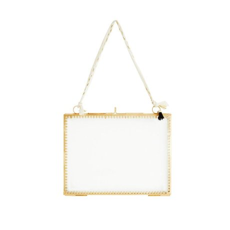 Madam Stoltz Bilderrahmen Glas Messing Gold Metall 20x15cm