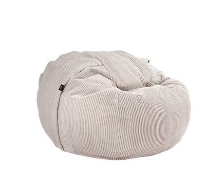 Vetsak Zitzak Cord velours single beige ribbed velvet Ø110x70cm 600 liters