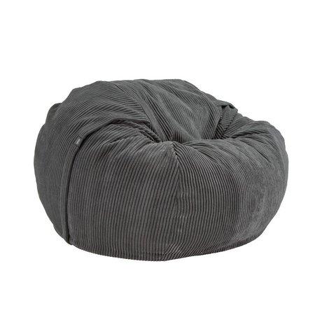 Vetsak Intriqués cordon Velour simple velours cotelé gris foncé Ø110x70cm 600 litres