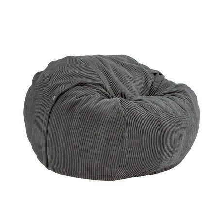 Vetsak Zitzak Cord velours single dark gray ribbed velvet Ø110x70cm 600 liters