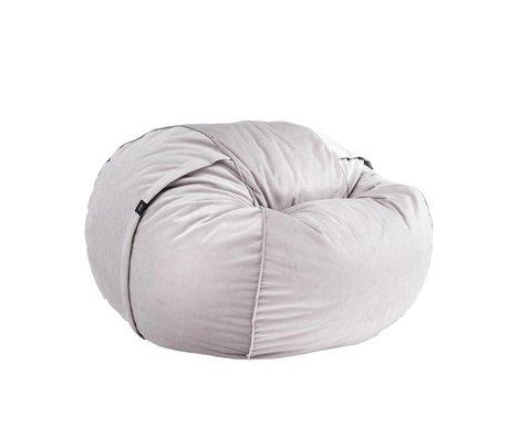 Vetsak Beanbag Velvet Einzel grauem Samt Ø110x70cm 600liter