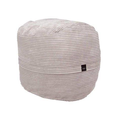 Vetsak Footstool Cord velvet beige ribbed velvet Ø60x60cm 100 liters