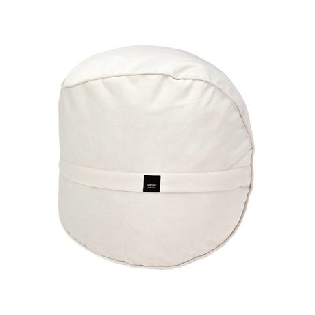 Vetsak Footstool Velvet cream velvet Ø60x60cm 100 liters