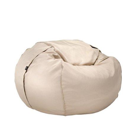 Vetsak Freier Outdoor Sitzsack Einzel beige Polyester Ø110x70cm 600 Liter