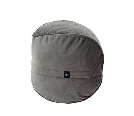 Vetsak Footstool Velvet dark gray velvet Ø60x60cm 100 liters