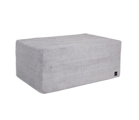 Vetsak Hocker Cord Samt grau gerippte Samt L 90x58x40cm