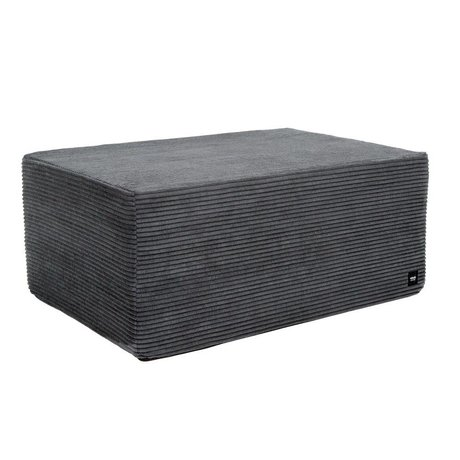Vetsak Hocker Cord Velours Dark Gray Ribbed Velvet L 90x58x40cm