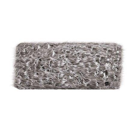 Vetsak Hocker Flokati grijs polyester L 90x58x40cm