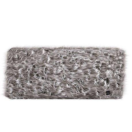 Vetsak Hocker Flokati grau Polyester L 90x58x40cm
